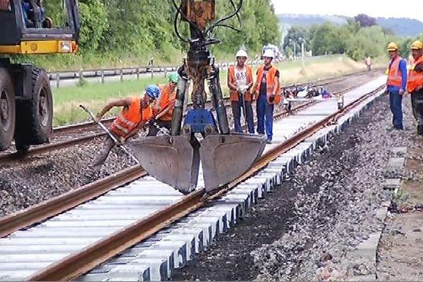 Chantier SNCF ligne Charleville - Givet