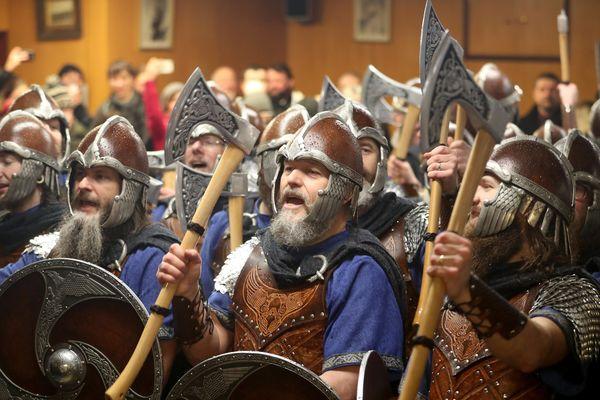 Légion royale anglaise à Lerwick dans l'archipel des Shetland
