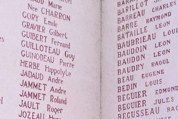Le nom de Louis Bauchamps ne figure pas sur le monument aux morts.