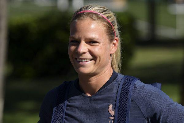 Eugénie Le Sommer, attaquante à l'OL et joueuse de l'équipe de France
