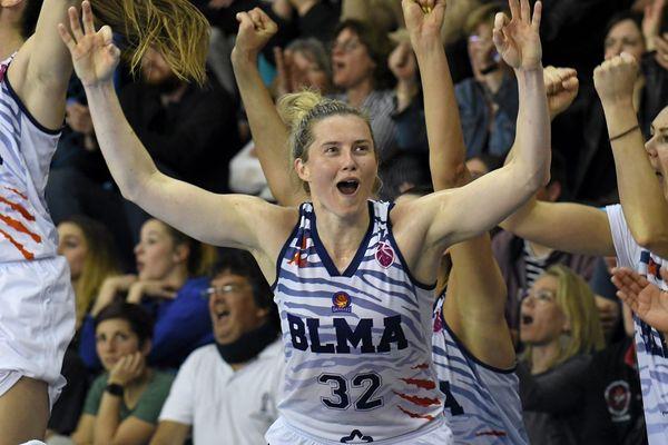 La joie des joueuses du BLMA le 28 mars dernier après leur qualification pour la finale