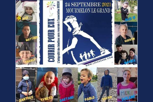 L'affiche de Courir pour eux, course caritative de Mourmelon-le-Grand.