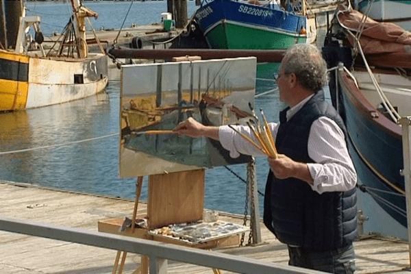 Jacques Rohaut, peintre officiel de la Marine.
