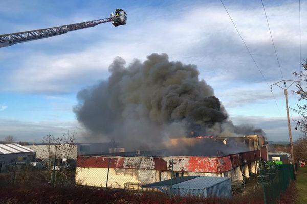 L'atelier de la chocolaterie Gillotte à Norges-la-Ville largement détruit par l'incendie