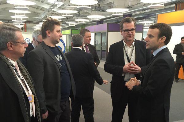 Le ministre a inauguré le campus OVH en présence des dirigeants de l'entreprise roubaisienne