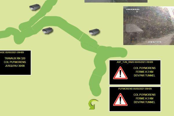 Un camion enlisé provoque la fermeture du col de Puymorens dans les deux sens de circulation.