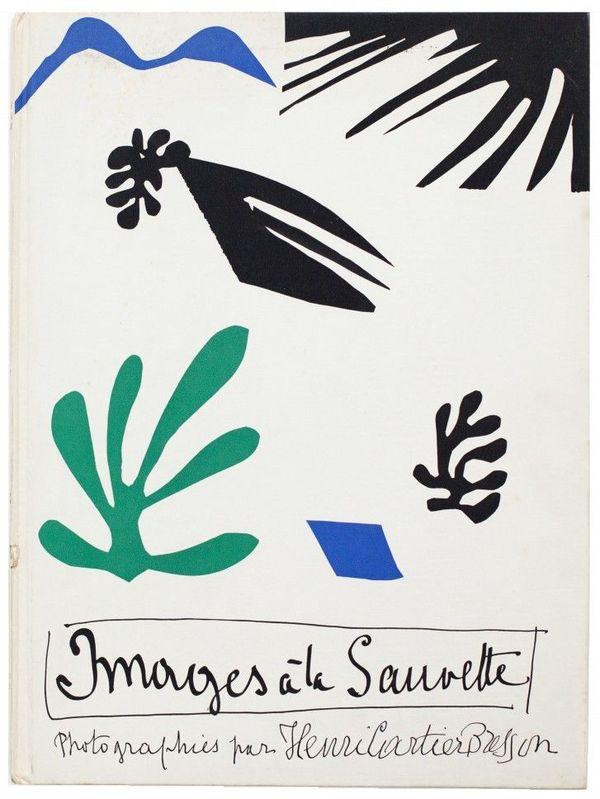 Matisse a réalisé une composition de papiers découpés gouachés, devenue couverture du couverture du livre Images à la sauvette d'Henri Cartier-Bresson.