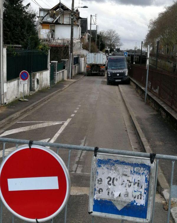 Rue Bellebat, la circulation est coupée jusqu'au 31 décembre.