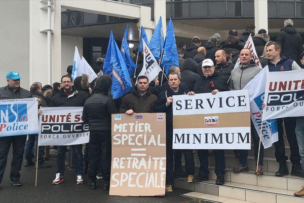 Les policiers rémois se sont mis en service minimum à partir d'aujourd'hui.