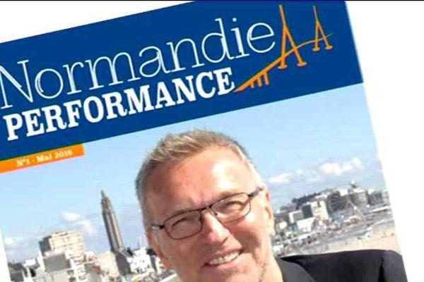 """Le projet de couverture du premier numéro de """"Normandie Performances"""", à paraître en mai 2016."""