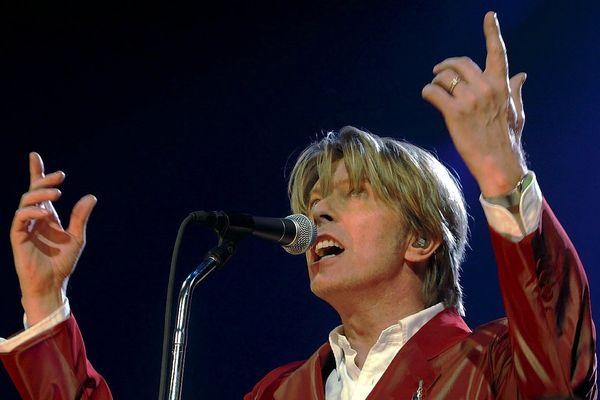 David Bowie, au Zénith de Paris, en septembre 2002.