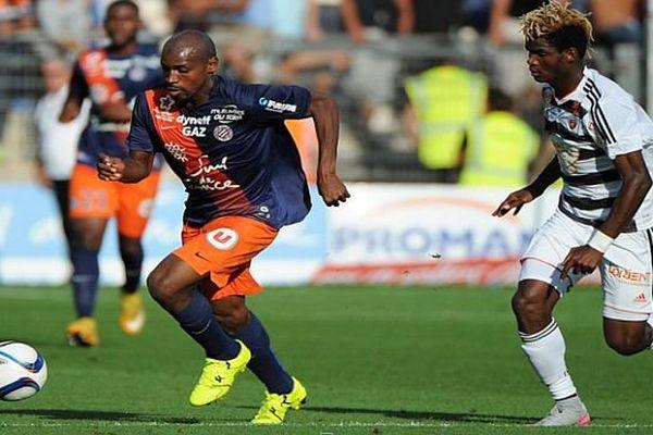 Montpellier-Lorient au stade de la Mosson - 27 septembre 2015.