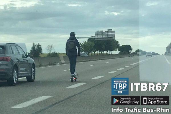 Les trottinettes ne sont pas autorisées sur les routes, d'après la gendarmerie.