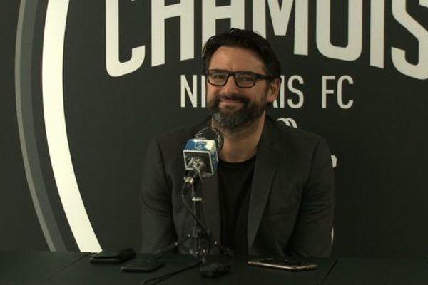 Karim Fradin lors de sa conférence de Presse le 21 mai 2020
