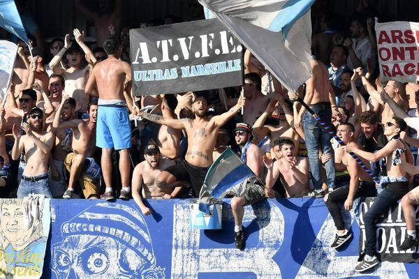 Photo d'illustration, supporters marseillais lors de Guingamp-Marseille le 20/04/19