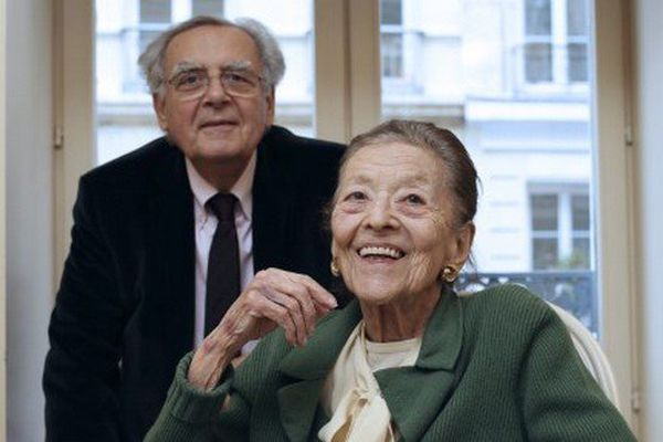 Edmonde Charles-Roux et Bernard Pivot.