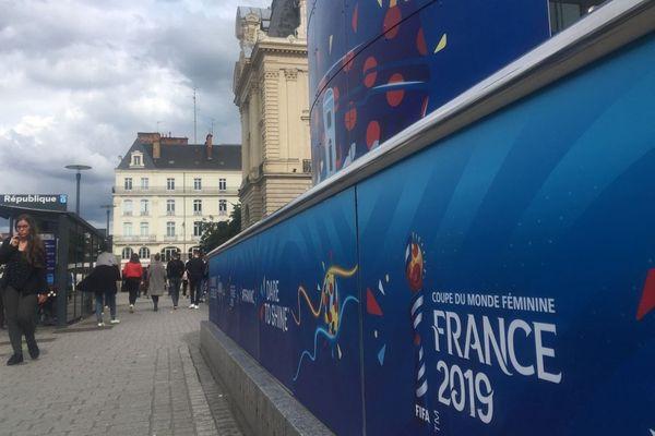 La ville de Rennes s'est parée des couleurs de la Coupe du Monde féminine pour un mois.