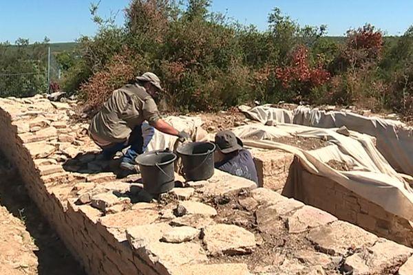 Villetelle (Hérault) - le site archéologique d'Ambrussum - 29 juillet 2019.