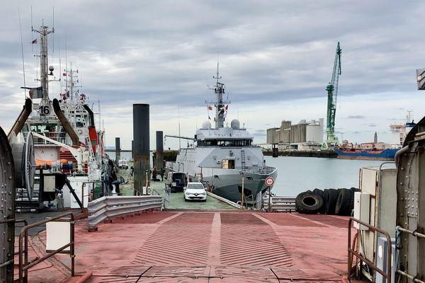 Mission accomplie pour le Flamant de retour au Havre quai Boluda pour débarquer ses passagers d'un jour et membres du comité de course.
