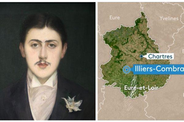 Le Portrait de Marcel Proust prêté à la Maison de Tante Léonie à Illiers-Combray, pour le Printemps Proustien.