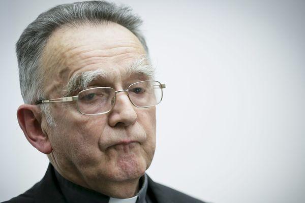 Monseigneur Pontier lors de la commission permanente de la Conférence des évêques de France dont il est le président.