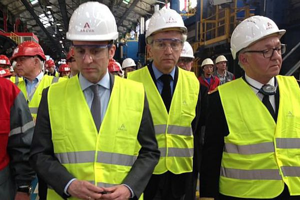Emmanuel Macron a visité le site Areva au Creusot lundi 2 mai 2016