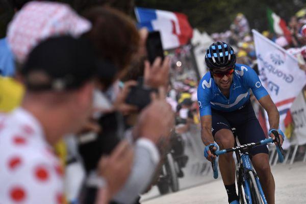 2019, l'Espagnol Mikel Landa à l'arrivé de l'étape de la Planche des Belles Filles.