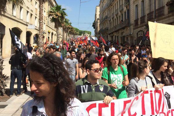Manifestation contre la politique d'Emmanuel Macron à Montpellier - 26 mai 2018