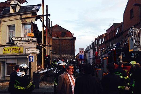 Maison effondrée à Lille-Fives.