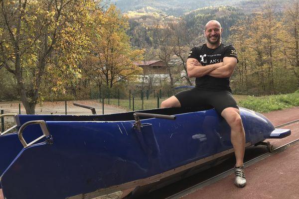 David Baechler, haltérophile, membre de l'équipage du Reims Bobsleigh Association .