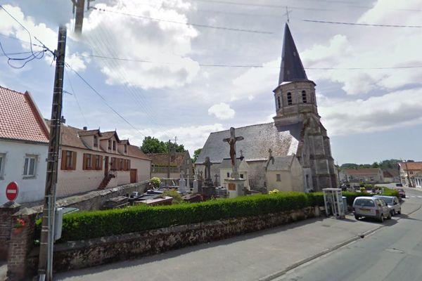 Le vol a été commis dans le petit cimetière de la commune de Frencq.