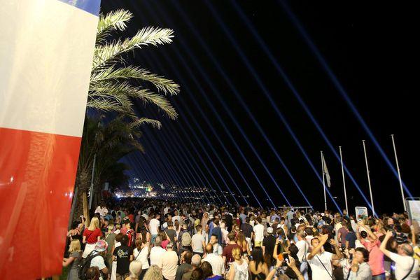 Il n'y aura plus jamais de feux d'artifice à Nice le 14-Juillet. Photo prise lors de l'hommage le 14 juillet 2017.