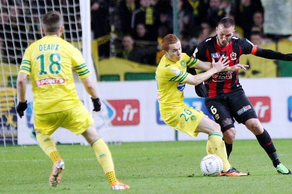 Quart de Finale de Coupe de la Ligue - Stade de la Beaujoire - Le FC Nantes - OGC Nice - Didier DIGARD N°6