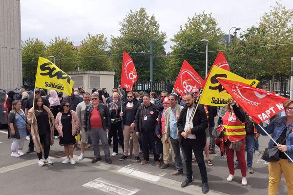 Les salariés de Conduent à Roubaix s'étaient mobilisés début juin contre ce plan de sauvegarde de l'emploi.