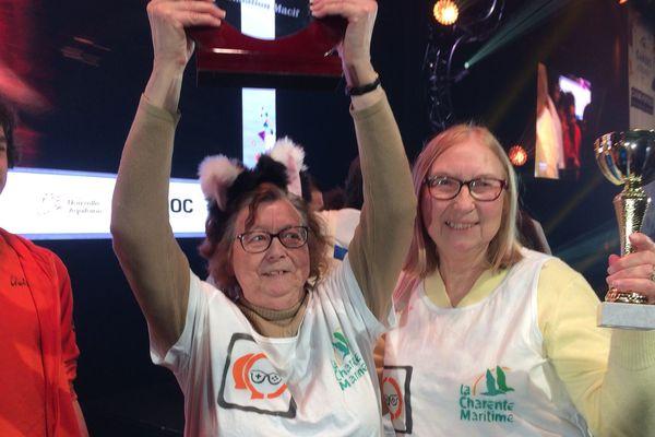 Geneviève et Marie, les deux gagnantes du Trophée des seniors à la Gamers Assembly 2018