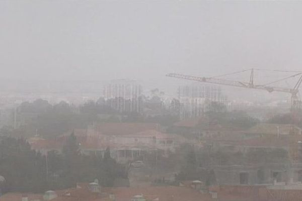 Perpignan - le brouillard sur la capitale catalane - 24 octobre 2016.