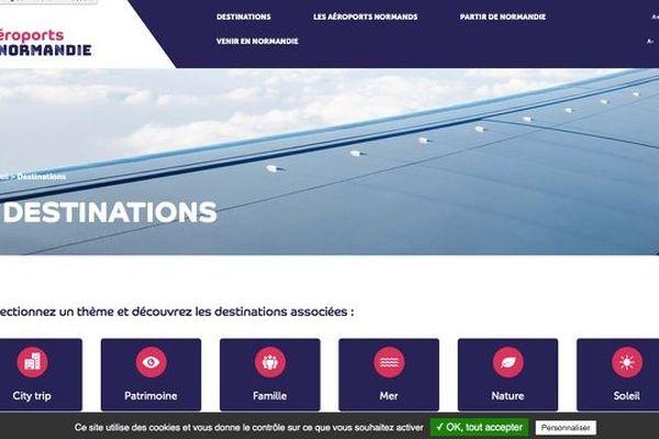 Le nouveau site aeroports-normandie.fr