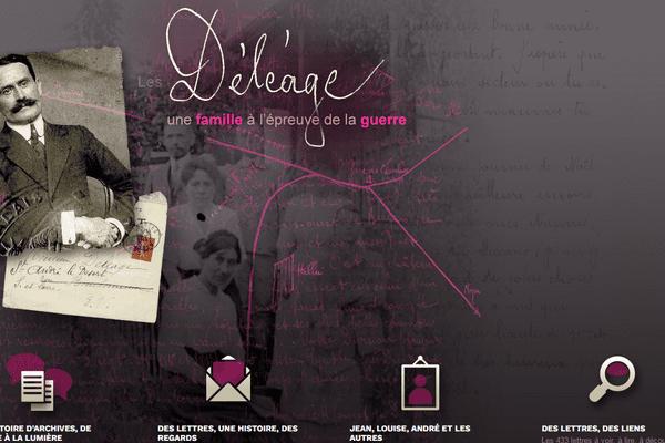 Capture d'écran du site internet des archives de Saône-et-Loire, sur lequel est diffusé le web-documentaire