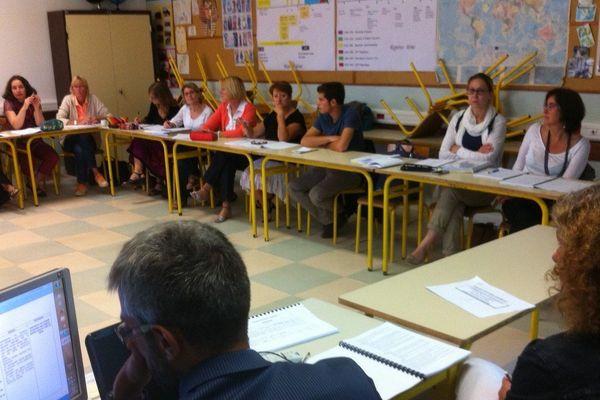 Rentrée des professeurs du collège Saint-Exupéry à Bourges.