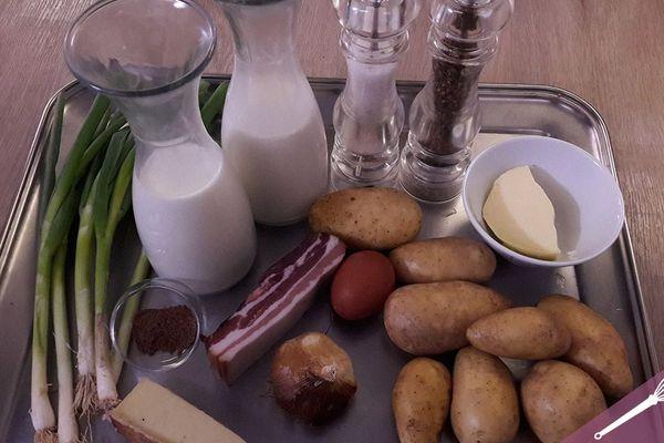 Les ingrédients du gratin dauphinois à l'ail d'Arleux