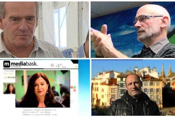 4 des 5 personnes interpellées à Louhossoa au Pays basque le 16 décembre 2016.