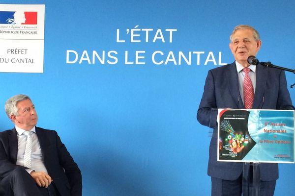 Jacques Mézard, ministre de la cohésion des territoires était jeudi 5 avril 2018 dans le cantal
