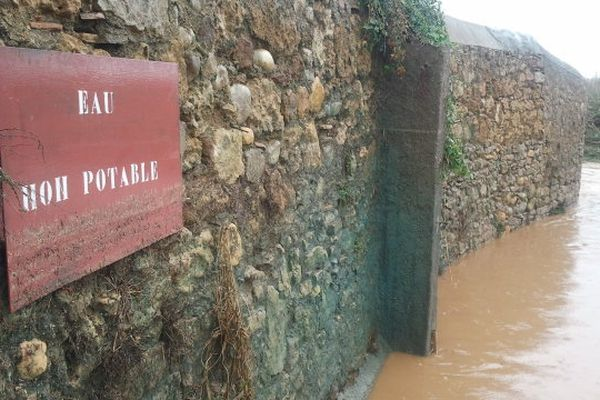 Luc-sur-Orbieu (Aude) - le village après 12 heures de fortes pluies - 22 octobre 2012.
