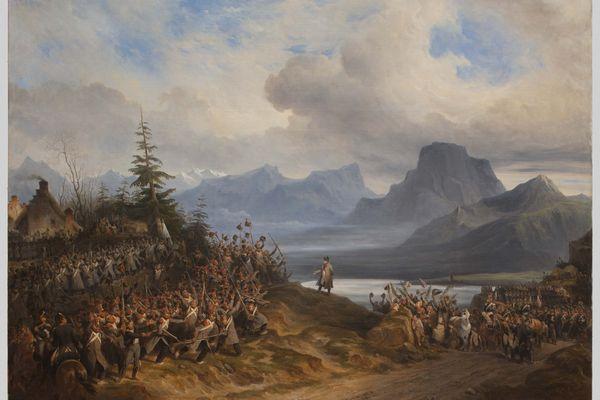 L'arrivée de l'Empereur aux environs de Grenoble dit aussi Retour de l'île d'Elbe, 1836 - Hippolyte Bellangé (1800-1866)