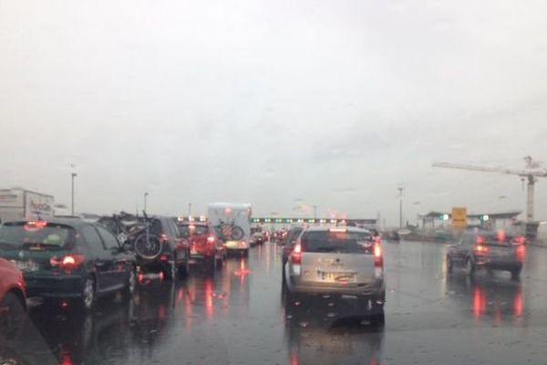 Circulation difficile sur l'A9 autour de Montpellier suite à l'orage