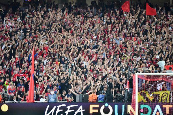 Même si le stade Pierre Mauroy n'était pas rempli, les supporters du LOSC ont donné de la voix.