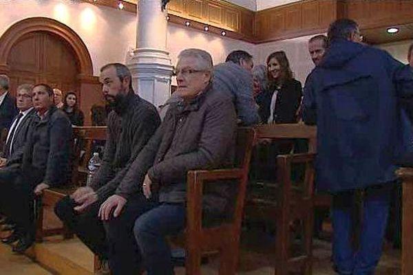 Nîmes - le procès des 18 aficionados de Rodilhan - 14 janvier 2016.