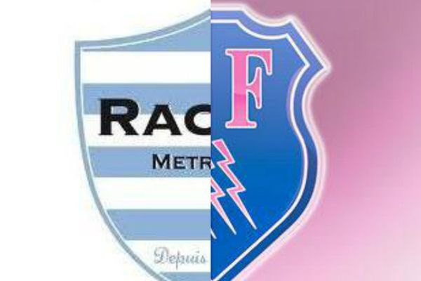 Les deux blasons du Racing 92 et du Stade Français.