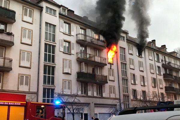 L'incendie s'est propagé à plusieurs appartements