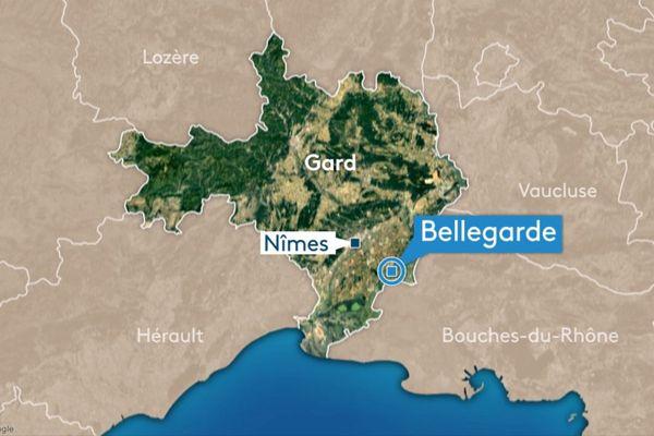 Carte de Bellegarde dans le Gard